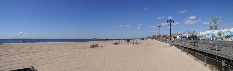 la spiaggia di New York City