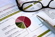 Leinwanddruck Bild - financial portfolio review
