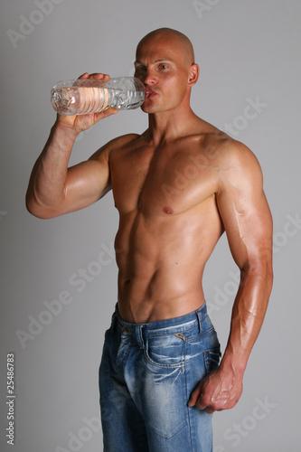 canvas print picture muskulöser Mann