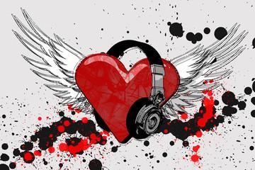 i heart headphones grunge