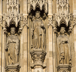 London - statue from parliament facade