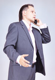 Businessman Using Phone
