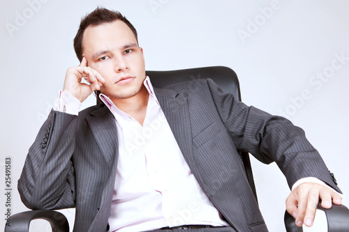 Portrait of business male model.
