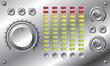 Hi-fi set with LED equalizer