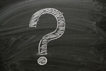 A Question Mark drawn on a blackboard
