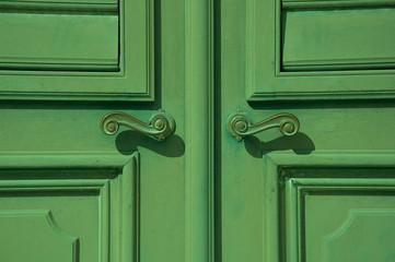 Tür grün, Nahaufnahme