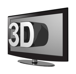 3D TV isometric grey screen