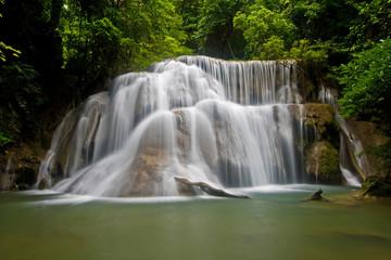 Huay Mae Khamin Waterfall Third Level in Thailand