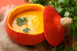 Pumpkin soup for halloween party