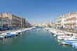 Leinwanddruck Bild - Sete Harbor in Southern France