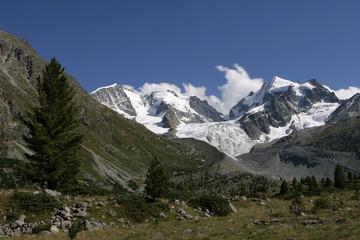 Il gruppo del Bernina dalla Val Roseg - Engadina