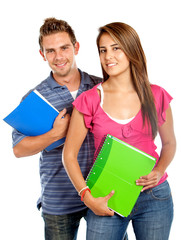 Young students couple