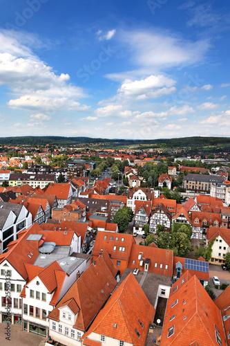 Blick auf Altstadt in Hameln, Deutschland
