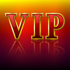 VIP gold letters.