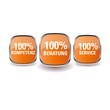 100% Kompetenz, Beratung und Service Button Set
