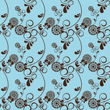 Seamless Abstract Floral  background pattern beige