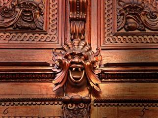 The detail of  medieval house door, Prague