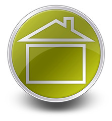 "Yellow Glossy Icon ""Home / Home Page / House"""