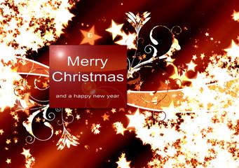Fondo con motivos navideños, felicitacion