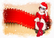 Navidad, Chica joven vestida de Santa Claus