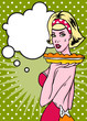 Lady With Pie Retro Popart Style Household advertise A Real Cuti
