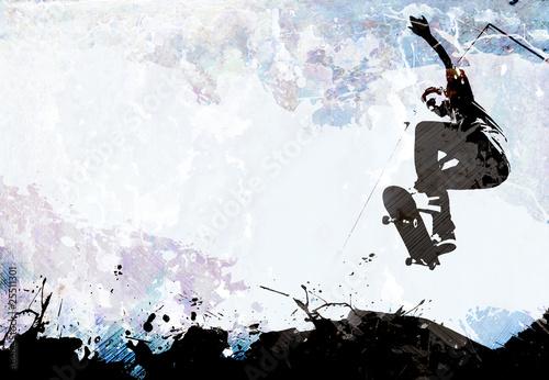Fototapeta Skateboarding Grunge Layout