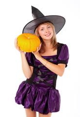 fairy with a pumpkin