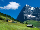 Jungfraubahn train in Eiger mountain, Switzerland