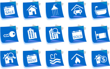 Real Estate icons Label Series