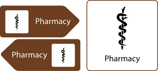 pharmacy directional sign