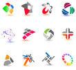 Collection of different colorful icons for your design