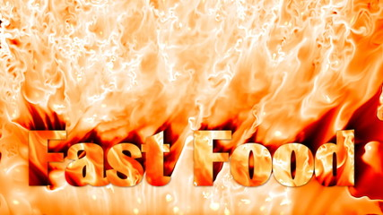 Fast food fire background