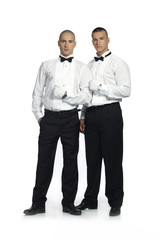 two smartly dressed men