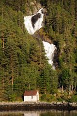 Waterfall on Hardangerfjord, Norway