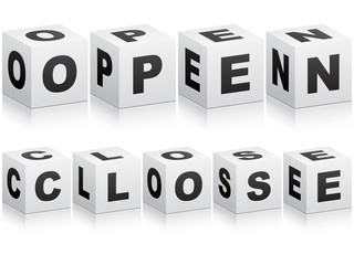 open and close word