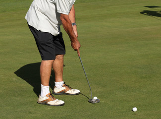 golf - particolare giocatore