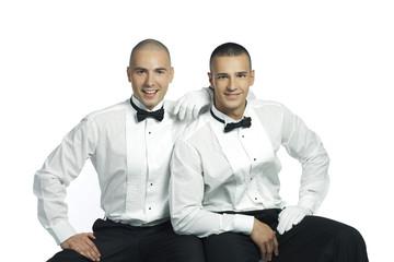 two handsome young gentlemen