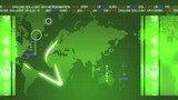 Sustainable development green world map ecology animation poster