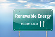 "Highway Signpost ""Renewable Energy"""