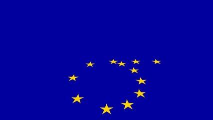 Europafahne perspektivisch mit Freiraum