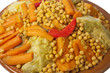 Traditional Moroccan couscous dish close up