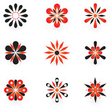 Collection of 9 vector design elements