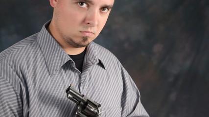 Man Holding Revolver