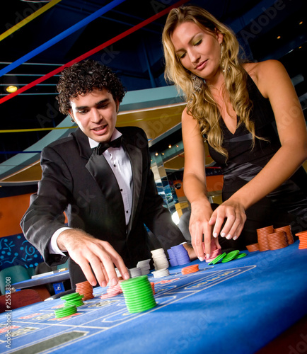 Couple at the casino