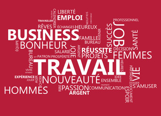 TRAVAIL fond rouge