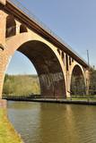 Railway viaduct crossing the new Canal de la Marne au Rhin poster