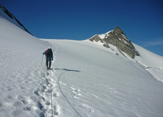 Alpiniste en Vanoise
