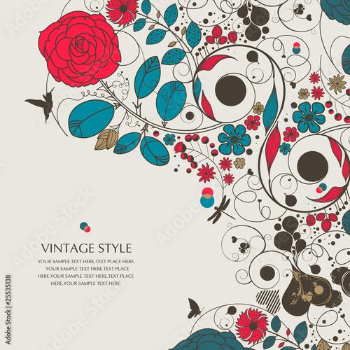 vintage flower-love