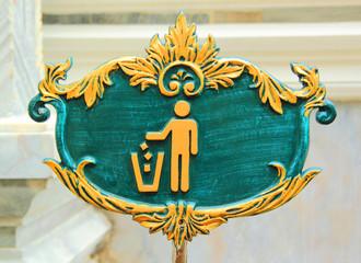 dustbin label