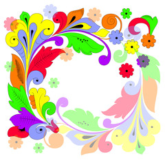 Bright colored floral background